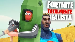 TOTALLY REALISTIC FORTNITE!!! UM PEPINO! (SECRET SKIN) Totally Accurate Battlegroungs (GRÁTIS)