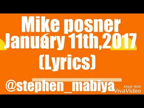January 11th ,2017(lyrics) By Mike Posner