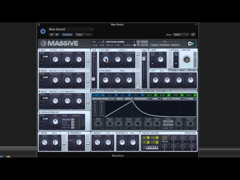 How to create a talking synth using  massive in logic Pro X