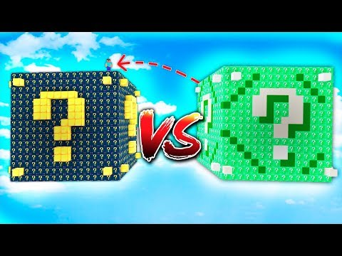 LUCKY BLOCK ASTRAL GIGANTE vs LUCKY BLOCK ESMERALDA GIGANTE (Minecraft - Lucky Blocks)