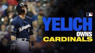 Christian Yelich OWNS the Cardinals so far in 2019
