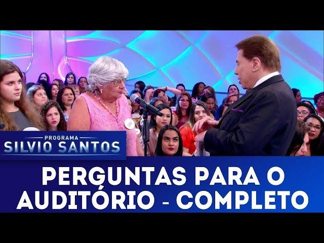 Perguntas para o Auditório - Completo | Programa Silvio Santos (30/12/18)
