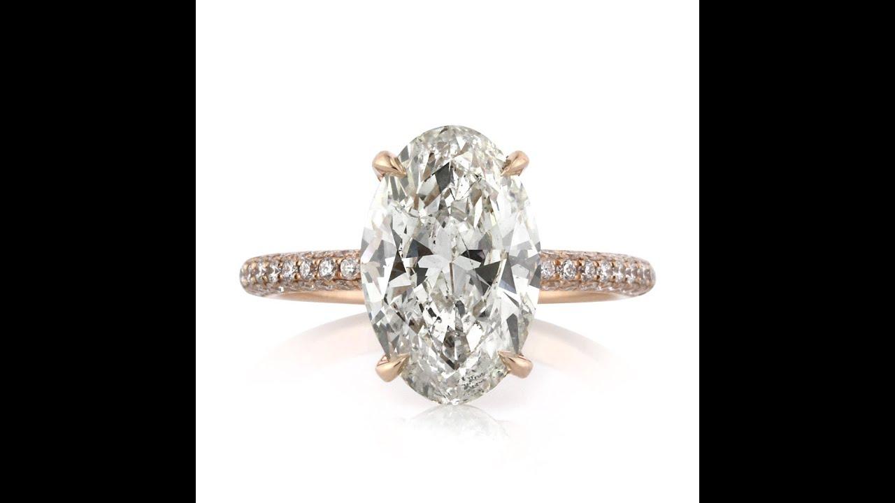 4.51 carat Oval Diamond Engagement Ring