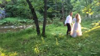 Как проходит свадебная съемка на природе. Смотрим!