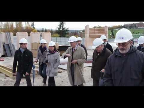 Rafael Moneo visita las obras del Museo Universidad de Navarra