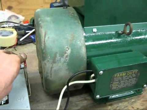 5HP SinglePhase Dayton Farm Duty Electric Motor  Almost done!  YouTube