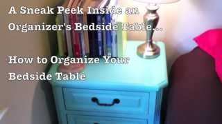 How To Organize Your Bedside Table | Drawer Organizers | Katie Mazzocco | Organized Home