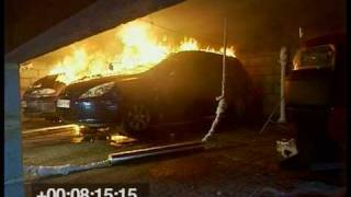 Fire Spread in Car Parks