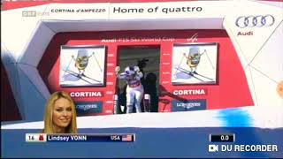 Lindsey Vonn wins Downhil (Cortina d'Ampezzo 2016)