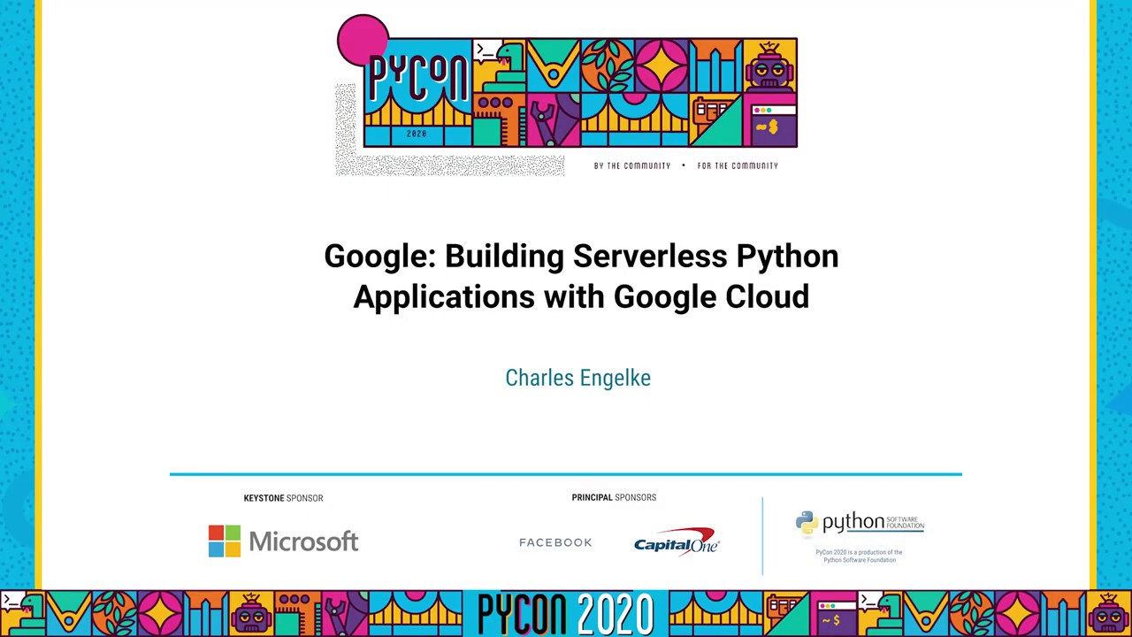 Image from Serverless Python Applications with Google Cloud