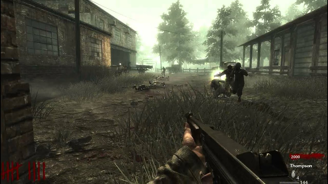 Call Of Duty World At War : Nazi Zombie Farm Swamp (Gameplay) - YouTube