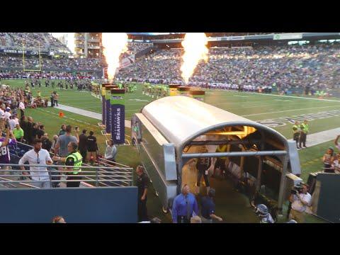 Seattle Seahawks pre game introductions. Hawks - Vikings 8/18/16