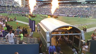 Seattle Seahawks pre game introductions. Hawks - Vikings 8/18/16