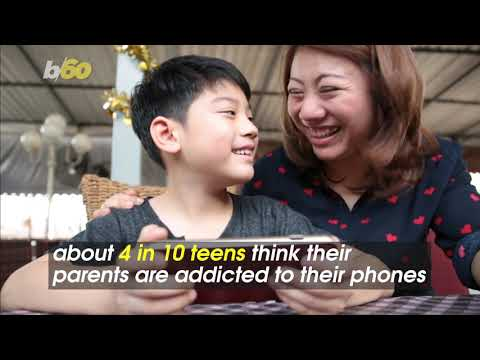 Left to Their Own Devices! Teens Think Their Parents Are Hooked on Their Smartphones