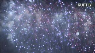Первый день Международного фестиваля фейерверков в Москве