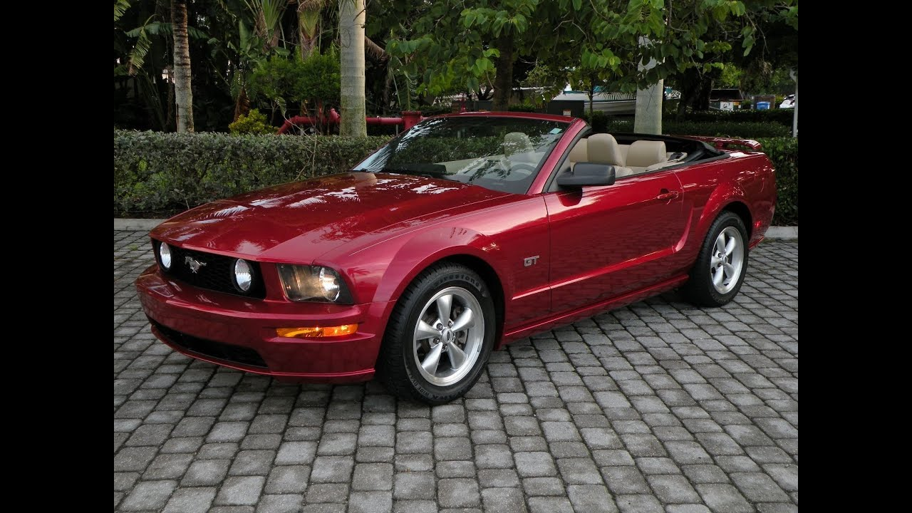 2006 ford mustang gt convertible for sale auto haus of fort myers florida youtube. Black Bedroom Furniture Sets. Home Design Ideas