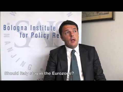 A Three-Question Interview with Matteo Renzi