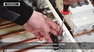 Mi - Sammelschienenverbinder setzen / Installation of busbar connectors