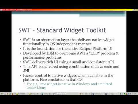 What is a Standard Widget Toolkit?