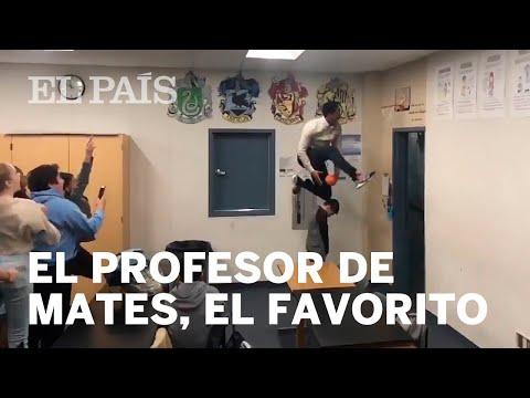 El profesor que arrasa en internet por sus espectaculares mates en clase