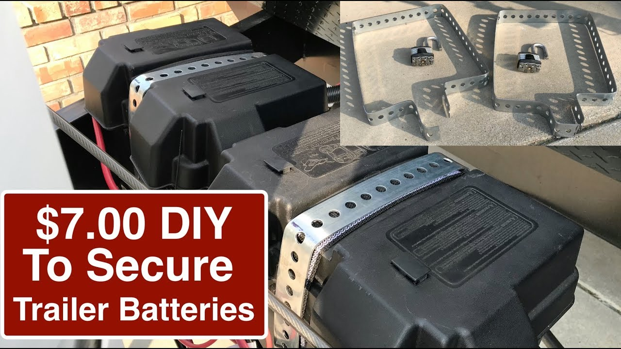$7 00 How to Secure Travel Trailer Batteries - Theft Deterrent Battery Lock  for Travel Trailer