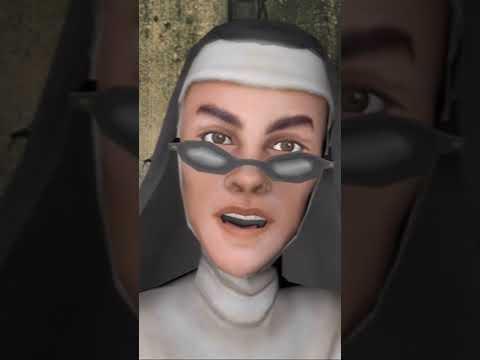 Монахиня наблюдает за Тимой!
