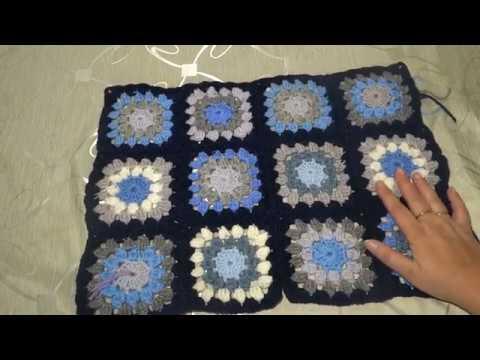 МК вязаное пальто крючком в технике бабушкин квадрат.