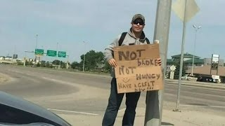 Man ticketed after giving change to cop posed as panhandler