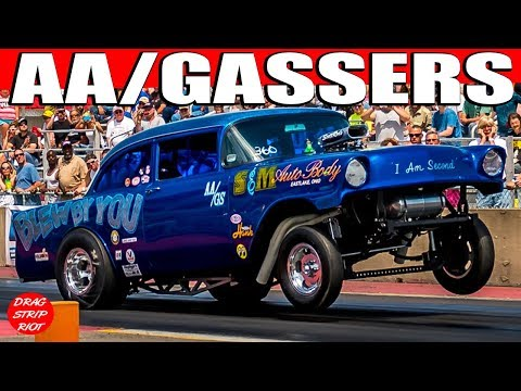 2015 Nostalgia Classic ScottRods AA Gassers Drag Racing Cars Video