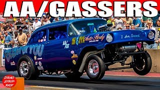 2015 Nostalgia Classic Ohio Outlaw AA/Gassers Backup Girls Funny Car Nationals Drag Racing Videos