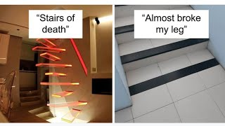 30 Epic Stair Design Fails That May Result in Some Serious Injuries| Hilarious Ways