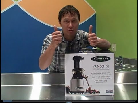 Omega VRT400 Juicer with Tap enables you to make Juices & Nut Milks