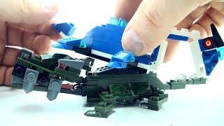 2 Dinosaur Toys Deinosuchus Elasmosaurus - Lego compatible dinosaurs - Dino Speed Build