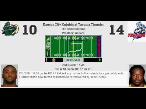 Week 9: Kansas City Knights (1-7) @ Tacoma Thunder (5-3)