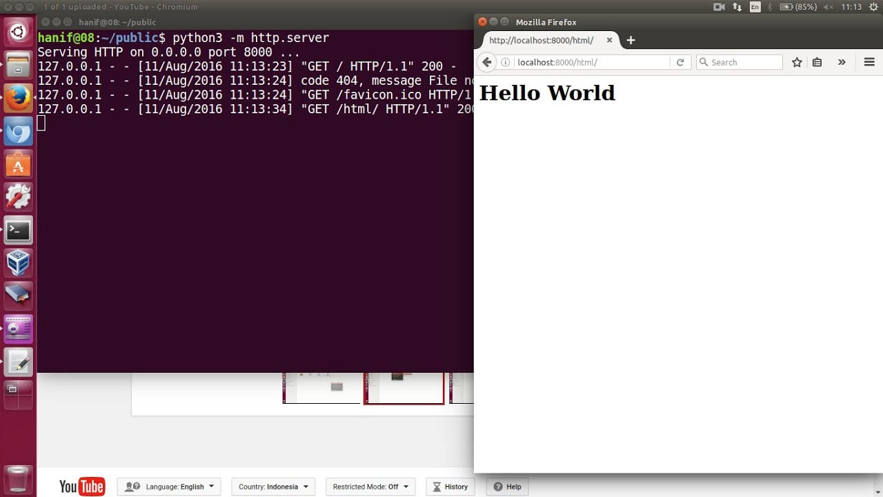 http server: a simple HTTP server module in python 3
