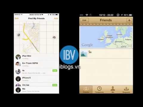 Hướng dẫn cách định vị tìm iphone, quản lý iphone - Find My Friends