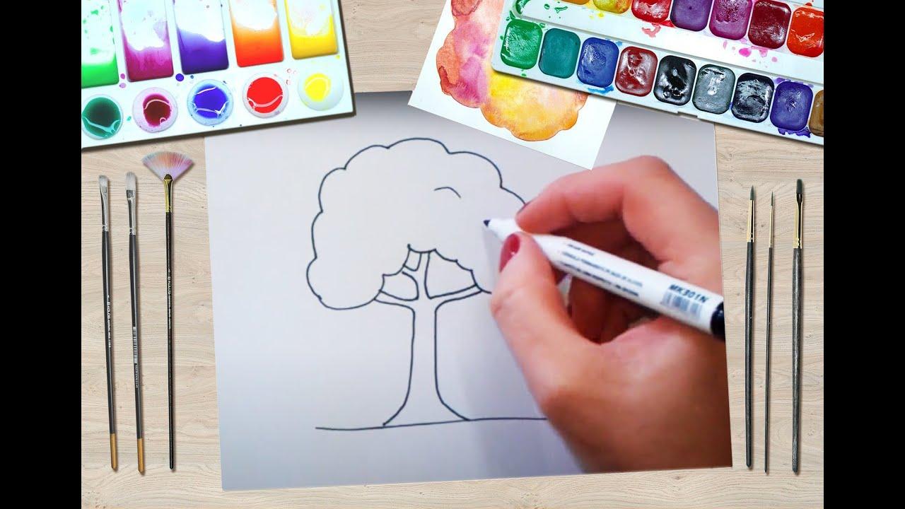 Cum Desenez Un Copac