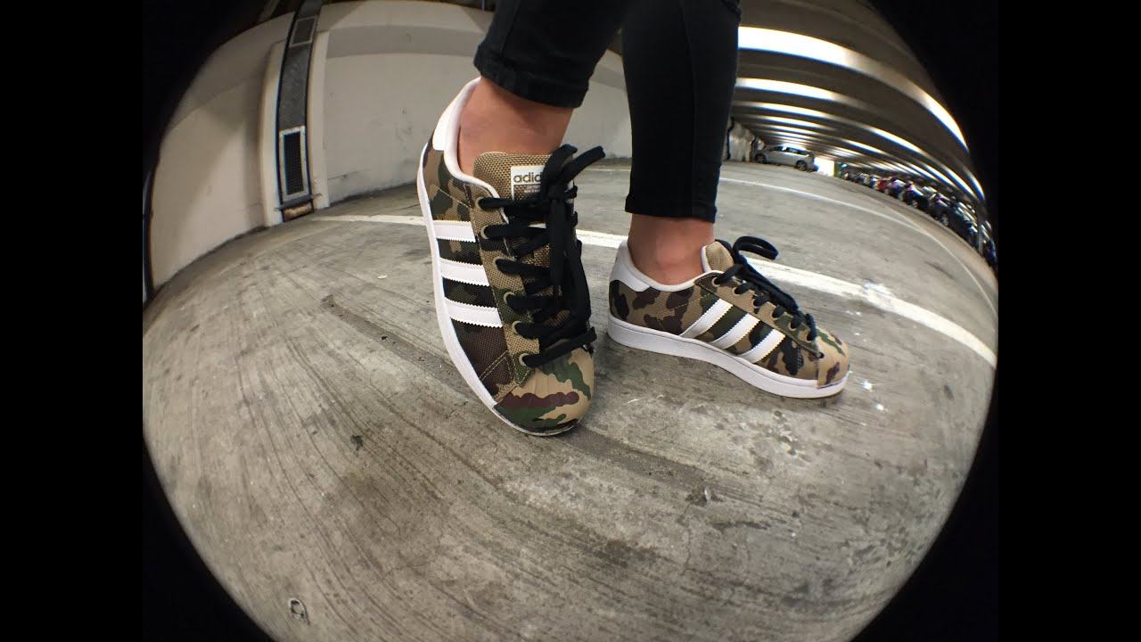 Adidas Junior Superstar Camo Trainers from Landau Store ✓✓