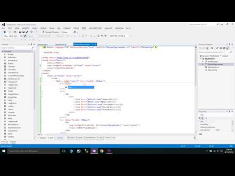 How to create Home Page in .NET with Master Page & StyleSheet