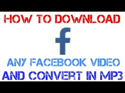 How To Download Any Facebook Video || Convert In Audio [mp3]||set Audio On Your Mobile Ringtone