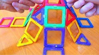 3D Магнитный Конструктор Прикольные игрушки из Китая МАГНИКОН ОБЗОР