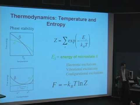 Thermodynamics and kinetics of Li-intercalation compounds: Dr. Anton Van der ven