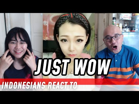 INDONESIANS REACT TO Amazing Power of Makeup Videos in Tik Tok China/Douyin
