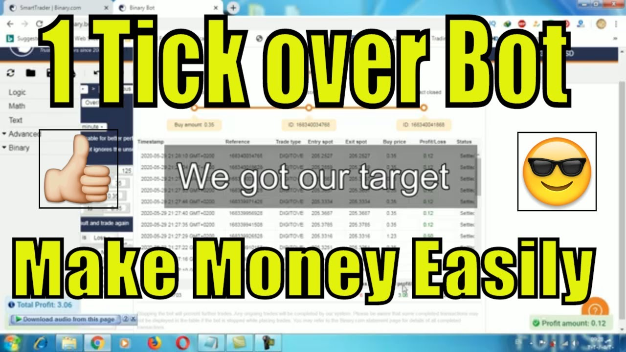 Binary option Trading|| 1 tick DIgit Over 2
