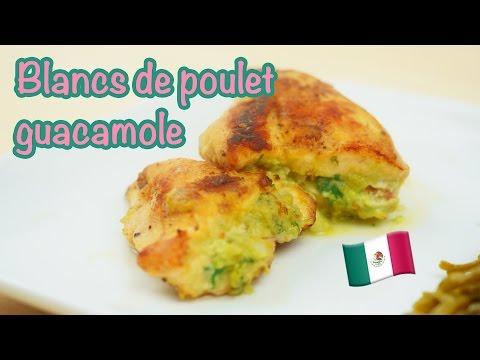 recette-minceur---blancs-de-poulet-farcis-au-guacamole