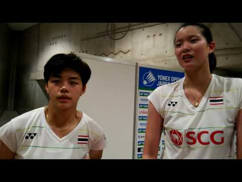 2016 Japan Open LD QF Thailand Puttita SUPAJIRAKUL / Sapsiree TAERATTANACHAI (English interview)