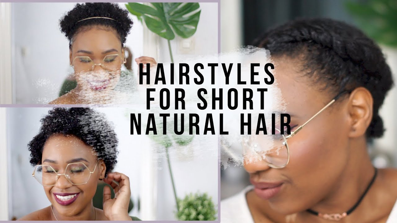 Back To School Hairstyles For Short Awkward Length Natural Hair Youtube