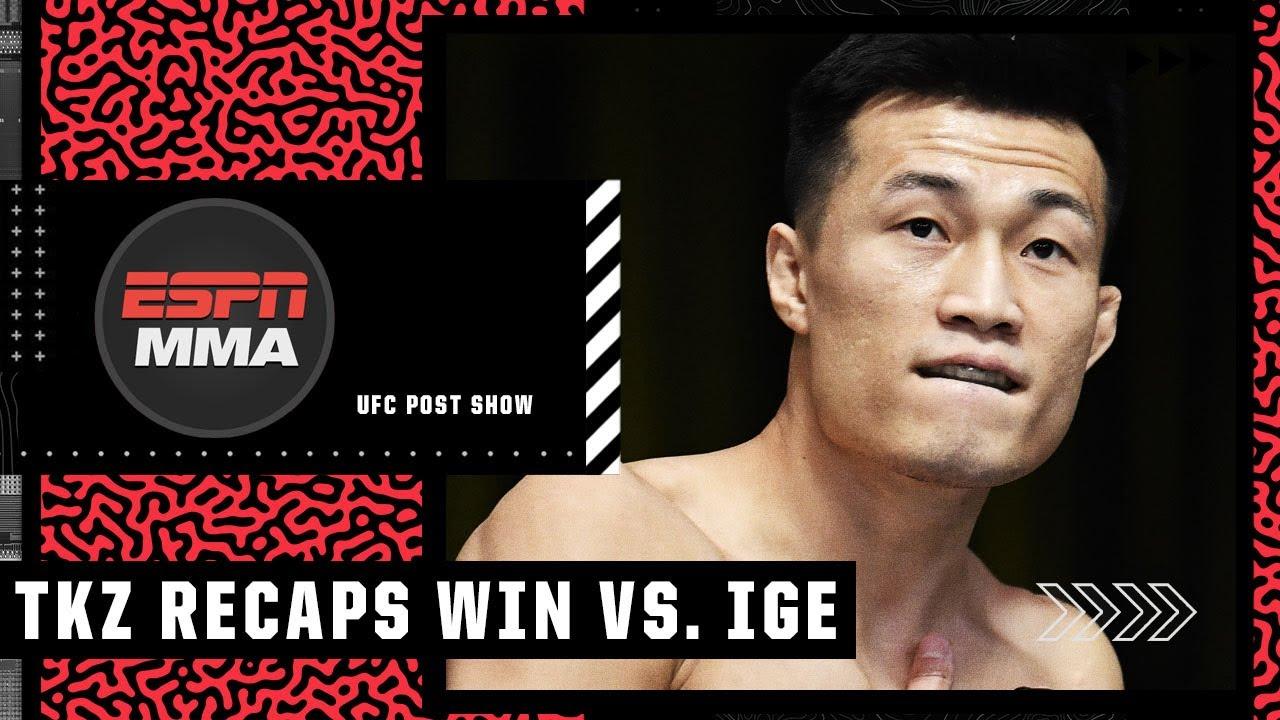 The Korean Zombie talks win vs. Dan Ige, earning his black belt | #UFCVegas29 Post Show
