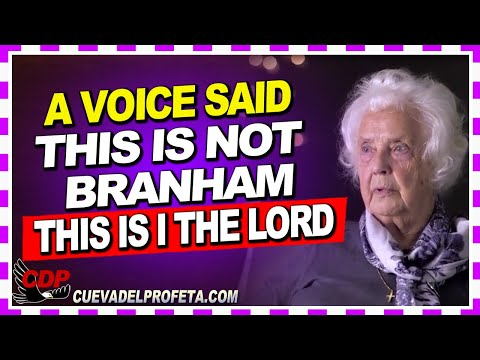 A Voice said: This is not Branham that speaking This is I The Lord | Sister Hjordis