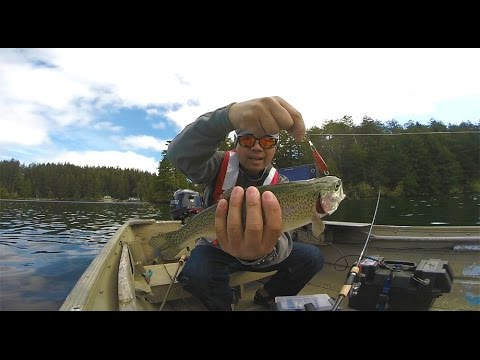 Fishing For Trout With A Trolling Spoon